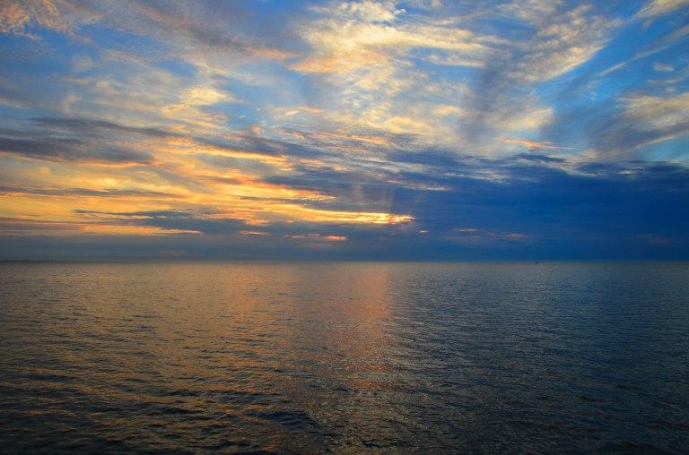 Lake Michigan at sunset. © Scott A. Edwards, 2015